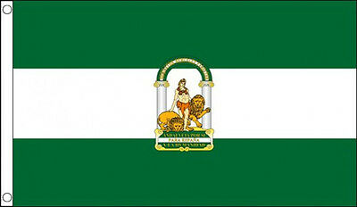5' x 3' Andalusia Flag Andalucia Spain Spanish Regional Region Flags Banner