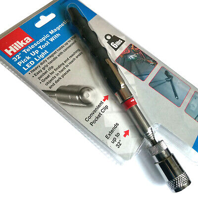 """Telescopic Magnet with LED Light/ 32"""" Magnetic Pick Up Tool Telescopic Magnet"""