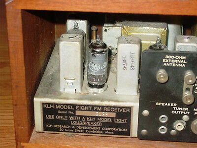 Klh Model Eight 8 Radio Receiver Back Label