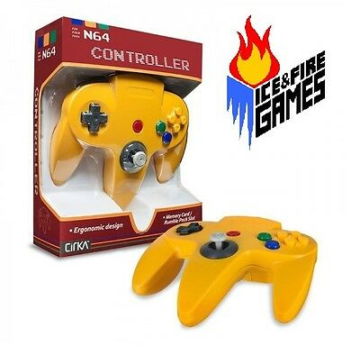 YELLOW N64 Controller - New in Box (Nintendo 64) Classic Joypad Design