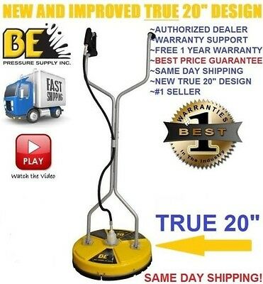 """BE Pressure Whirl-A-Way 20'' FLAT Surface Cleaner Washer - Concrete Cleaner 20 """""""