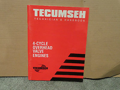 Techmseh Engines Technician's Handbook Manual 4-Cycle OHV 1998 Education Tools