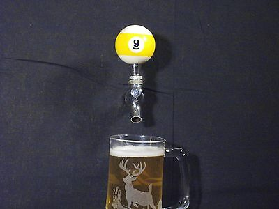 #9 POOL BALL BEER KEG TAP HANDLE KEGERATOR  ** FREE PRIORITY SHIPPING **