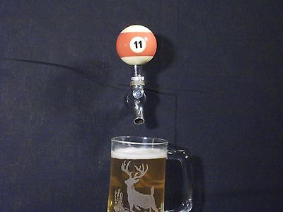 #11 POOL BALL BEER KEG TAP HANDLE KEGERATOR  **FREE PRIORITY SHIPPING**