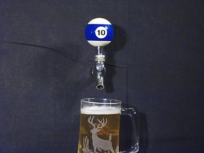 #10 POOL BALL BEER KEG TAP HANDLE KEGERATOR ** FREE PRIORITY SHIPPING**