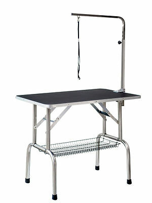 Large Fortable Portable Pet Dog Grooming Table w/Arm/Noose/Storage 11S