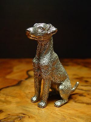 Silver Pewter AIREDALE TERRIER Dog Statue ~ Paperweight ~ Other Uses