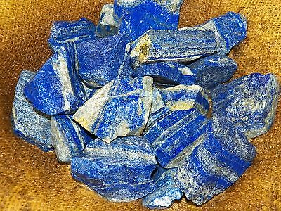 3000 Carat Lots of High End Lapis Rough - Plus a FREE Faceted Gemstone