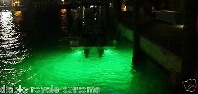 Green Led Gty Underwater Fishing Drop Light Boat Dock Night Fishing Led Light