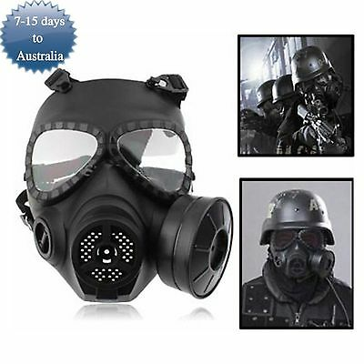 Airsoft Paintball Tactical Wargame COSPLAY Face Gas Mask Anti-Frog Turbo Fan
