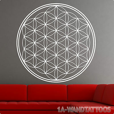 wandtattoo xxl blume des lebens esoterik geometrie energie symbol. Black Bedroom Furniture Sets. Home Design Ideas