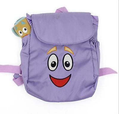 Dora The Explorer Backpack soft Plush with Map Girls Preschool Rescue Bag