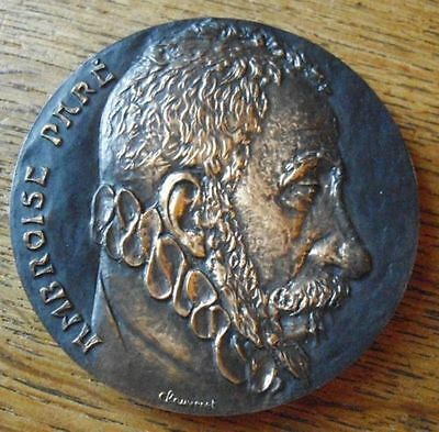 """RARE """" Scary """" French Bronze Medal 16th century Surgeon"""