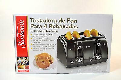 Sunbeam 4-Slice Extra-Wide Slot Toaster, Black - New in Box