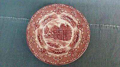 GRINDLEY STAFFORDSHIRE 7 IN. PLATE, Rose Pink and White
