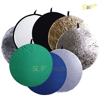 8-in-1 110cm Collapsible Multi Lighting Reflector Set Photo Studio Photography