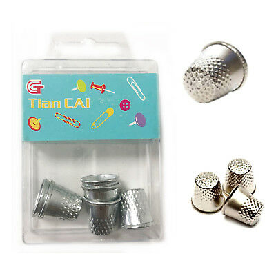 6 Thimble Metal Shield Finger Sewing Thumb Protector Quilt Grip Pin Needle Dress