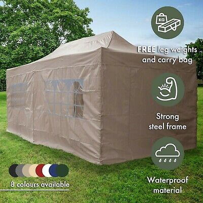 Airwave 3x6m Garden Pop Up Gazebo with Carry Bag - Fully Waterproof Marquee