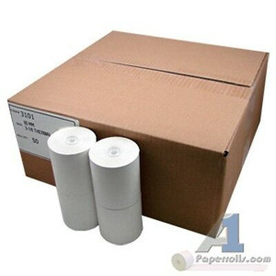 "Lot of 2 cases of 3 1/8""x 230' Thermal Cash Register Paper Rolls 50/Case"