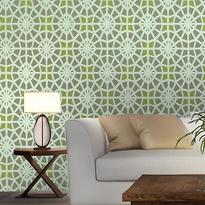 Moroccan Stencils allover Eloise DIY Reusable stencil pattern for walls