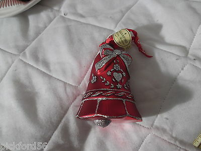 Waterford Red Christmas Heralding Bell-No box.