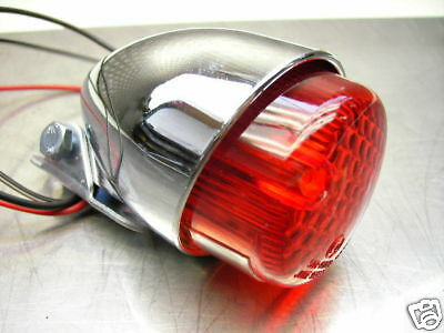 "New Rear Tail Stop Light "" Cafe Racer Chrome 55Mm"" Rücklicht Neu Xs 650 Sr 500"