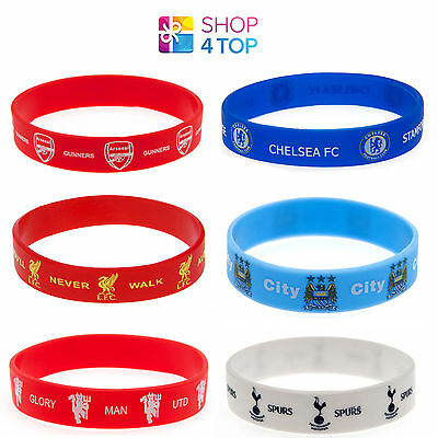 Official Football Soccer Clubs Teams Fc Silicone Rubber Wristband Licensed New