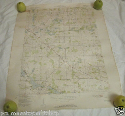 1951 Geological Survey Map Indiana Merriam Quadrangle Department of the Interior