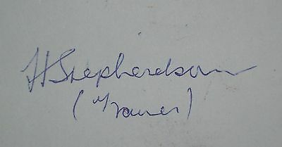 Harold Shepherdson signed England 1966 World Cup 1970 Middlesbrough autograph
