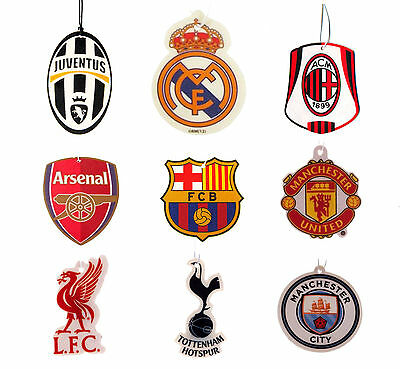 Official Football Soccer Club Team Fc Car Air Freshener Citrus Scent Hanging New