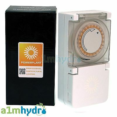 Powerplant Heavy Duty 24 Hour 15 Minute Grow Light Timer 600W Hydroponics