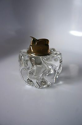 Vintage Swirl Glass Table Lighter From Daux, France