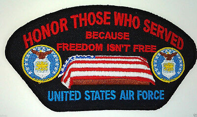 ''HONOR THOSE WHO SERVED'' US AIR FORCE Military Veteran Patch D