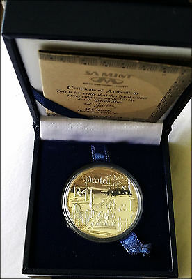 South Africa 1999 Protea Rand Silver Coin Proof SA Mint