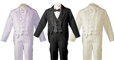 Boys Tuxedo Style Tail Suit  Perfect for Christening Baptism 3 Months to 6 Years