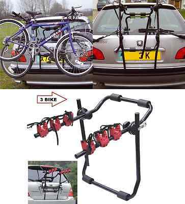 2 & 3 Bicycle Carrier Car Rack Bike Cycle Universal Fits Most Cars Rear Mount