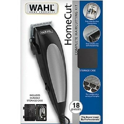 Wahl 18pc Home Pro Complete Hair Cutting Kit Clippers Trimmer Shaver New In Box