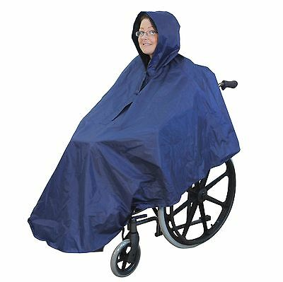 Waterproof wheelchair poncho / mac / cape with hood