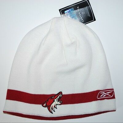 579aba421c0 Phoenix Coyotes Reebok NHL Hockey Reversible Knit Winter Cap Hat Beanie  Toque