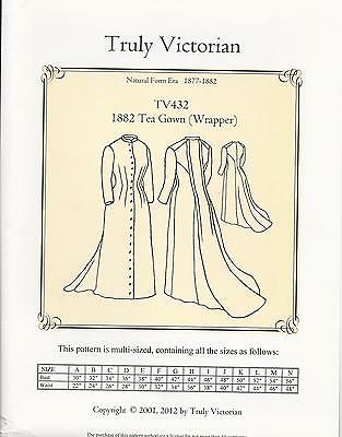 Schnittmuster Truly Victorian TV 432 Wrapper 1882 Tea Gown