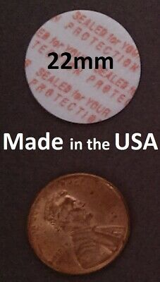 22mm Press & Seal Cap Liners ~ Foam Safety Tamper Seals ~ Made in the USA