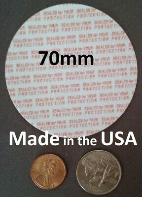 70mm Press & Seal Cap Liners ~ Foam Safety Tamper Seals ~ Made in the USA