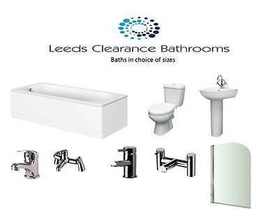 COMPLETE BATHROOM SUITE ONLY £270.00 acrylic bath, melbourne pottery, taps