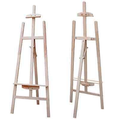 6Ft Adjustable Wooden Artist Painting Studio Display Tripod Wood Easel