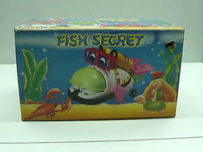 80's Vintage Fish Secret Battery Operated Toy Ocean Diver Mib