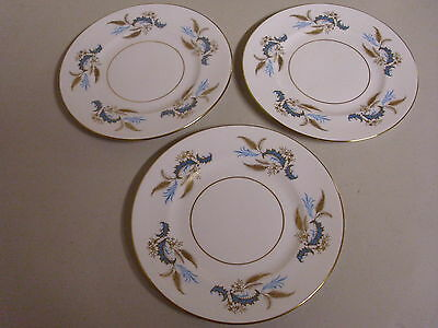 LOT OF 3 RIDGWAY GOLDEN RHAPSODY BREAD + BUTTER PLATES 6 3/8 INCHES