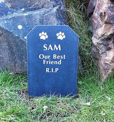 Slate Grey Granite Pet Memorial Stone