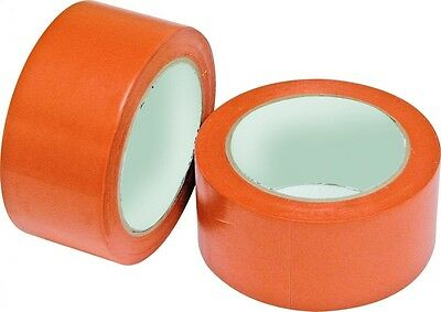 10x Rouleau Ruban Adhésif Chantier 50mm x 33m - PVC Orange - PRO - 82RUB50000C