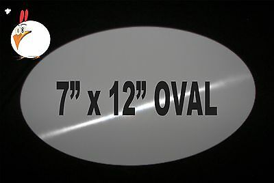 """30 Pieces OVAL ALUMINUM  SUBLIMATION BLANKS 7""""x 12"""" NO HOLES, sublimation supply"""