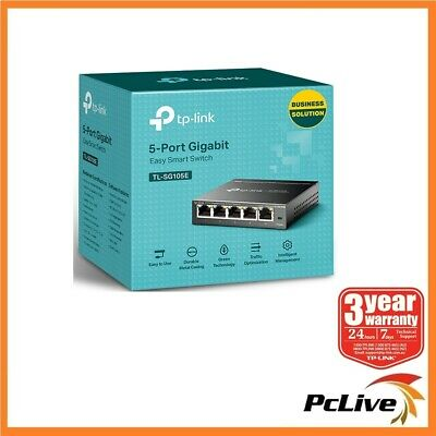 TP-Link TL-SG105E 5-Port Gigabit Easy Smart Switch 1000Mbps VLAN Network Monitor
